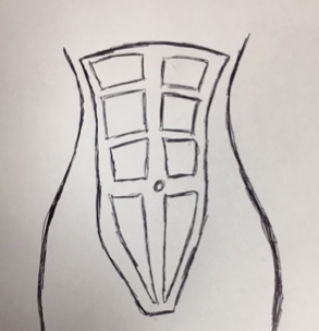 Drawing of a normal abdominal muscle