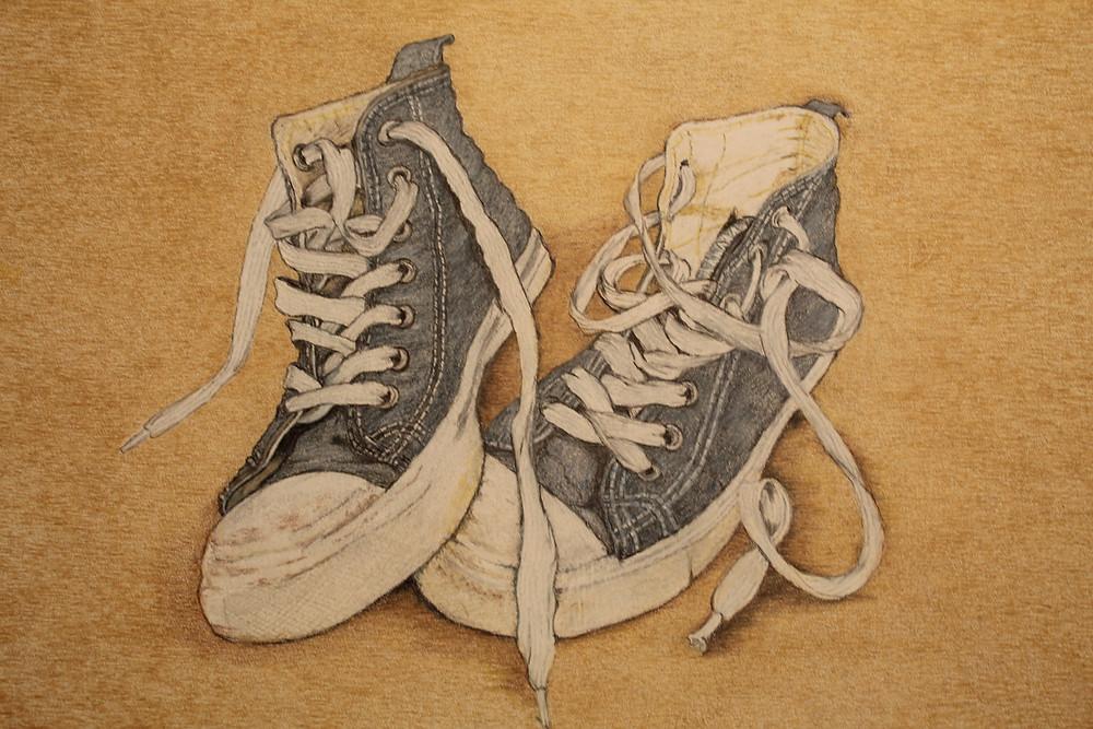 11x14 'Stipple' Watercolor Pencil Illustration Board