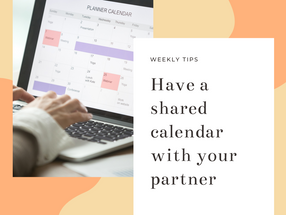 Set up a shared calendar to help organise your families activities