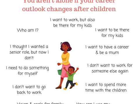 When your career outlook changes after having children