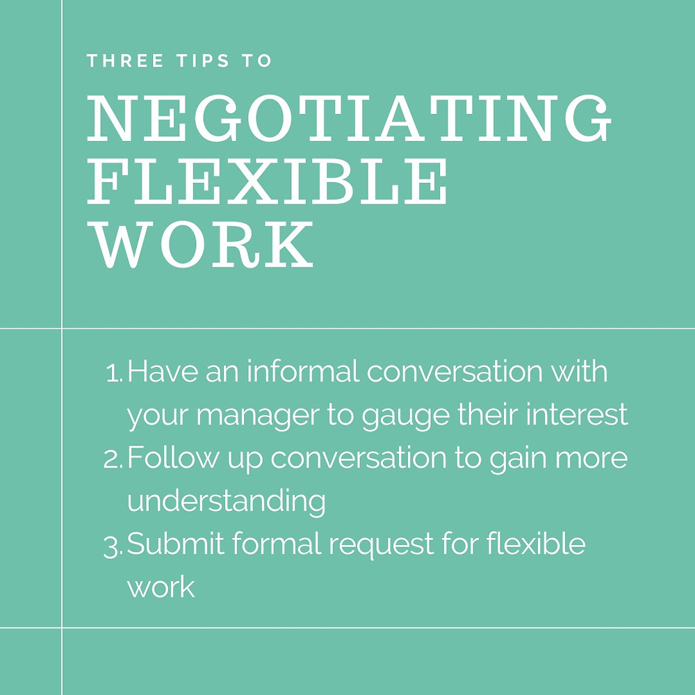 3 tips to negotiating flexible work