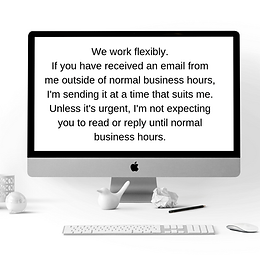 Include work days & hours in email footer