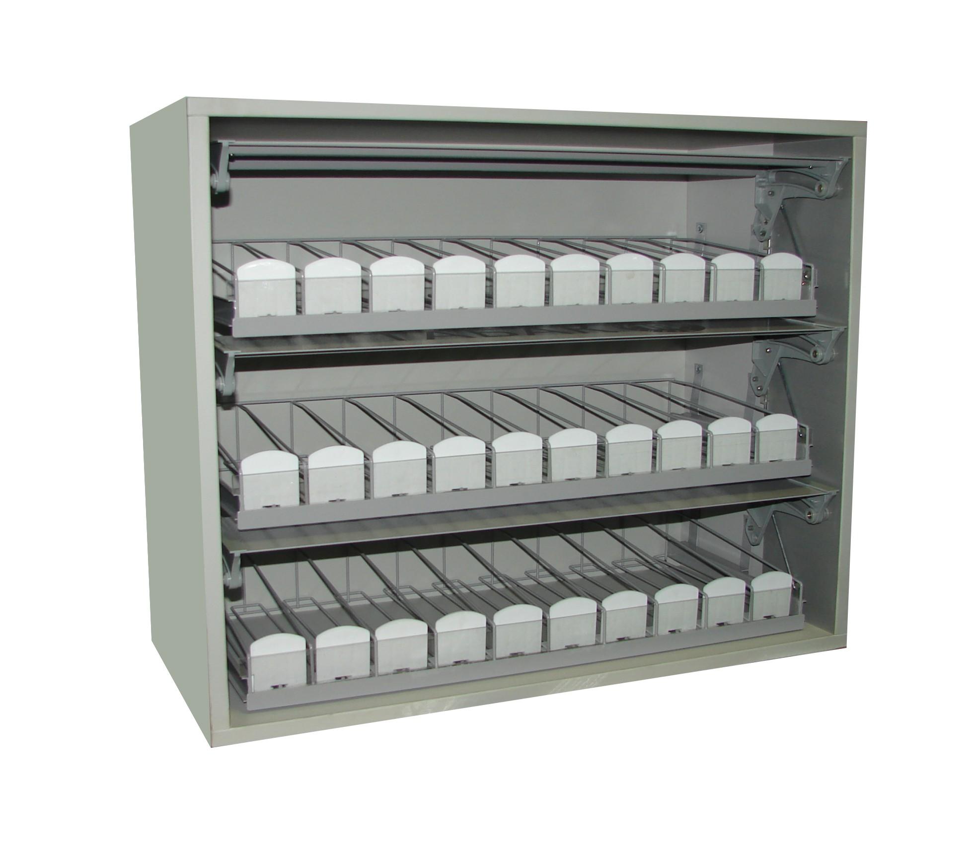 Шкаф 3 на 10 ЛДСП/металл