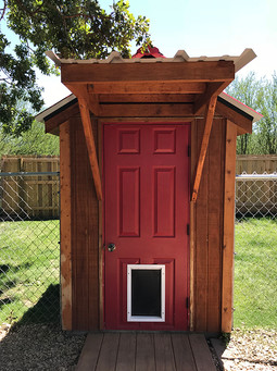Dog boarding cabin front
