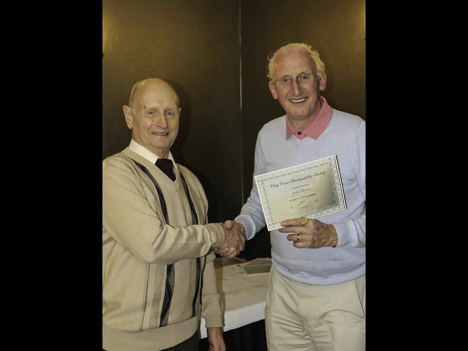 Honorary Membership - John Bacon