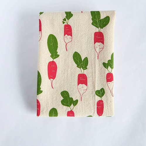Radish Kitchen Towel, Tea Towel