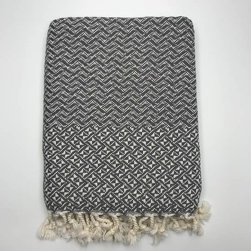 Minsk Throw,  Dark Grey