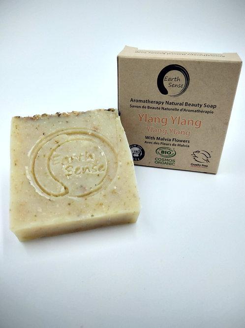 Organic Solid Soap - Ylang Ylang & Blue Corn Flowers