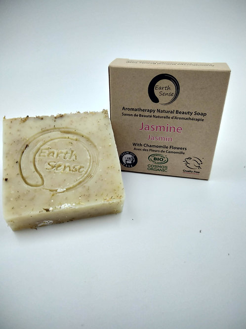 Organic Solid Soap - Jasmine with Chamomile Flowers