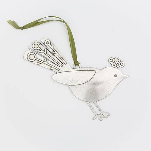 Fancy Bird Ornament (right facing)