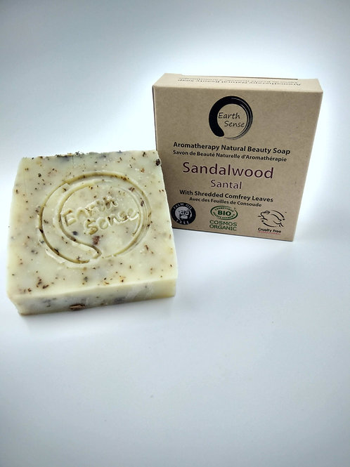 Organic Solid Soap - Sandalwood & Comfrey Leaves