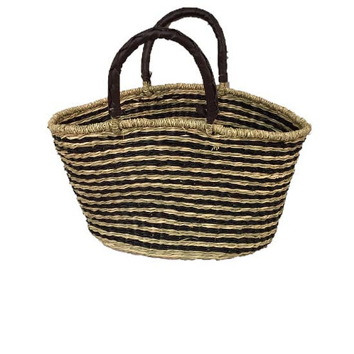 Seagrass Oval Bag, C