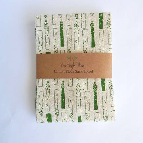 Asparagus Kitchen Towel, Tea Towel