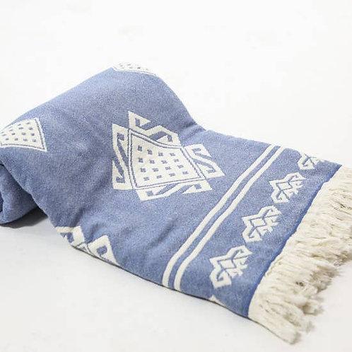 Abundance Throw Blanket, Blue