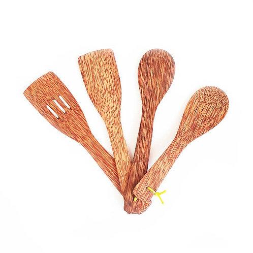 Coconut Wood Cooking Utensils 4 Pack