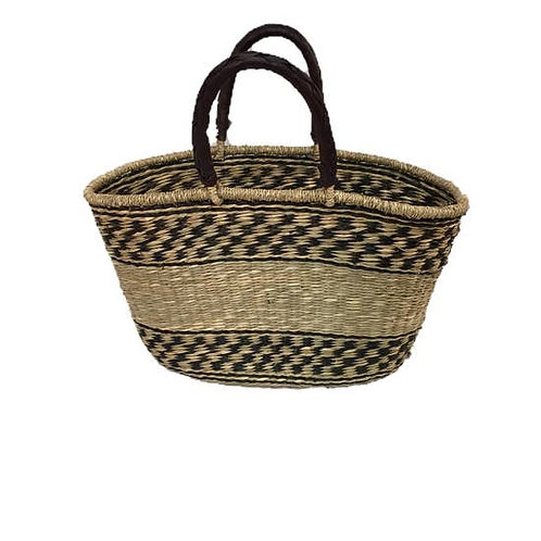 Seagrass Oval Bag, D
