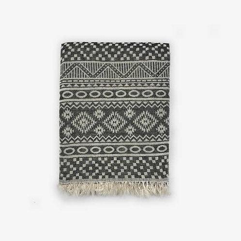 Tribal Turkish Towel, Black