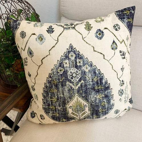Mina Accent Pillow, Blue