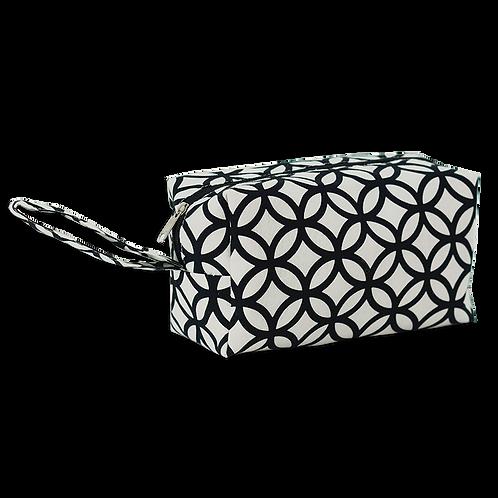 Black & White Cosmetic Cases Medium Ringa