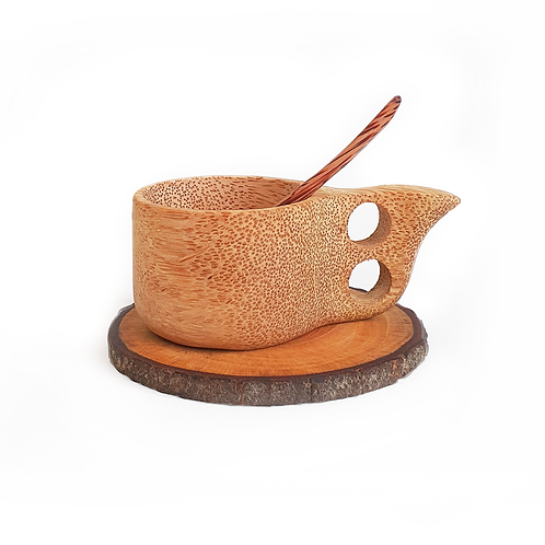 Coconut Wood Kuksa Teacup Set