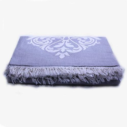 Damask Bed Blanket - Queen/ Black