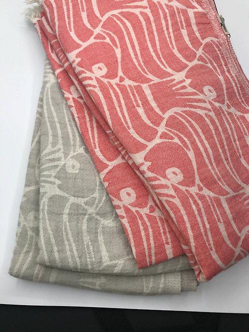 Fishes Beach Towel Grey