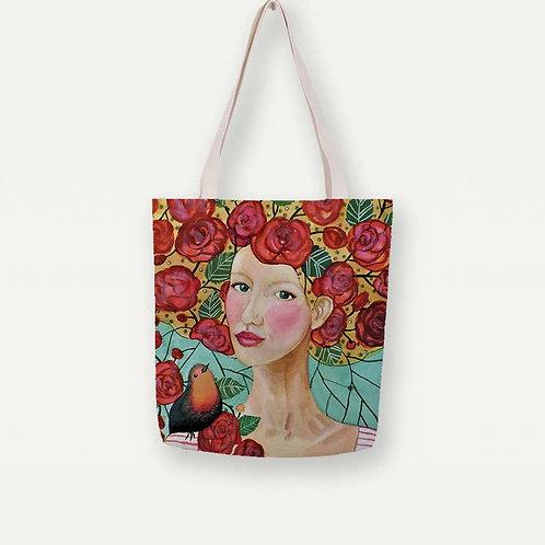 Delphine Canvas Tote Bag