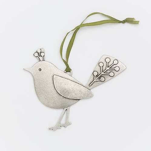 Fancy Bird Ornament (left facing)