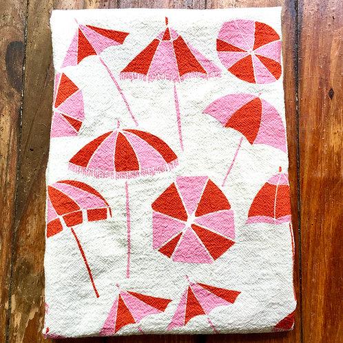 Sun Umbrella Tea Towel