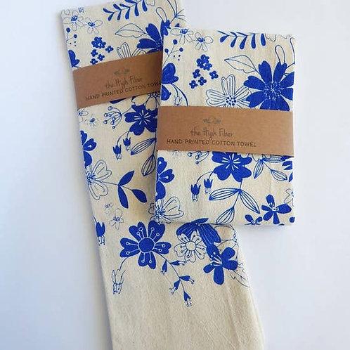 Vintage Floral Kitchen Towel, Tea Towel