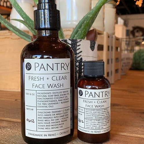 Pantry Products, Fresh + Clear Face Wash, 8 oz.