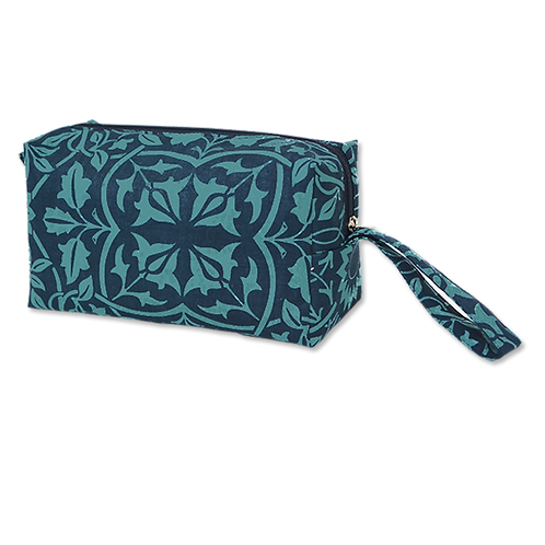 Teal Indigo Cosmetic Cases Medium Classical