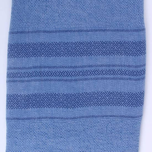 Rome Stone Washed Towel, Blue