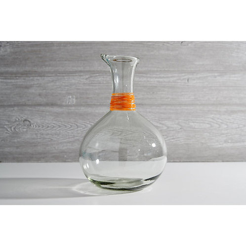Handblown Glass Carafe Orange