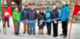 Ribbon Cutting - Bob Luce, Karl Strand, Bruce Miles, Joan and Bill Alfond, Kate Punderson, Earle Morse