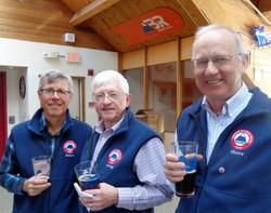 Peter, Greg, Steve - team vests