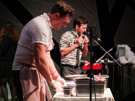 James beard awarded Chef Patrick Connolly and Countertenor opera singer Anthony Roth Costanzo dual performance