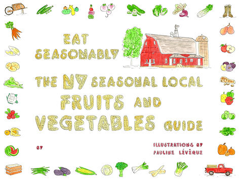 seasonal eating local new york fruit and vegetable guide placemat