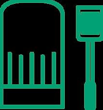 Chef hat and spatula icon