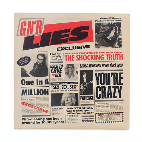 Guns N' Roses | G N' R Lies | Uncensored 1st | Used Lp