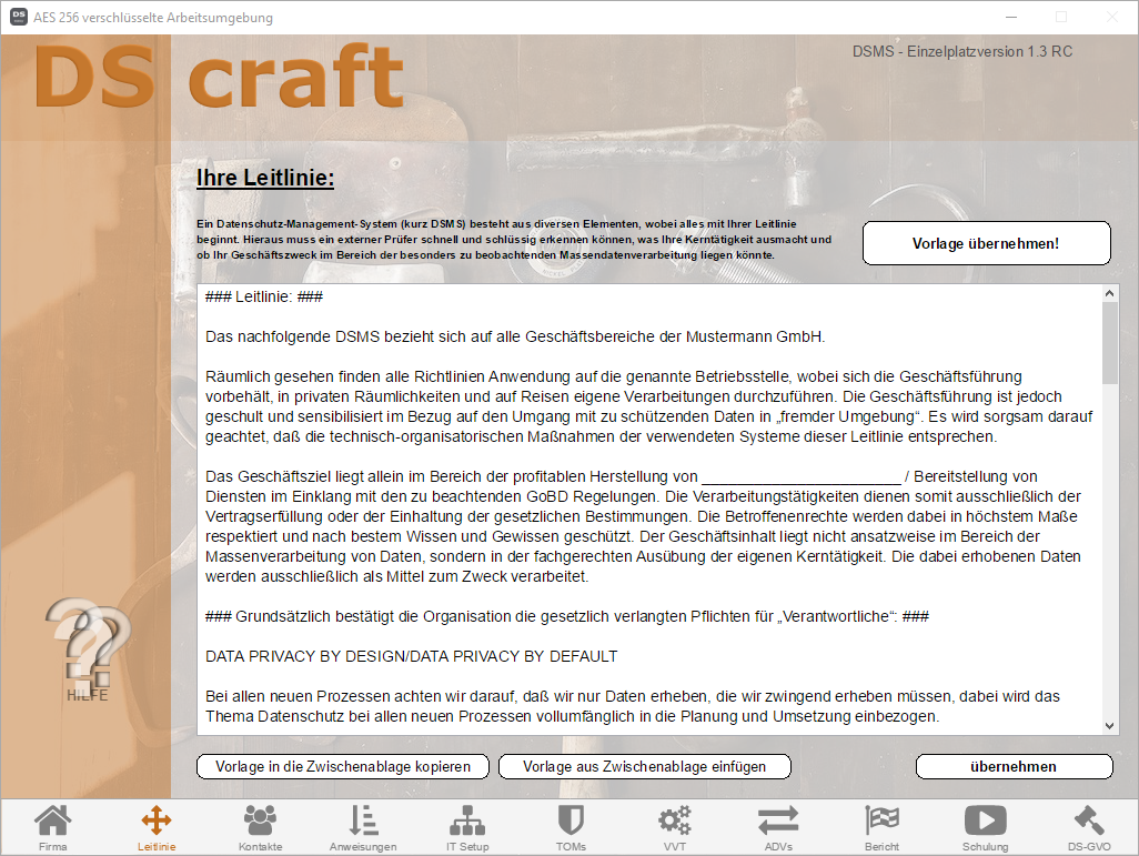 Screenshot V1.3 - DS craft - 02 Leitlini