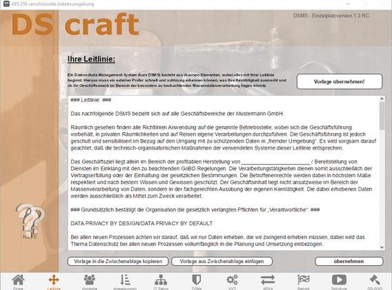 Screenshot V1.3 - DS craft - 02 Leitlini