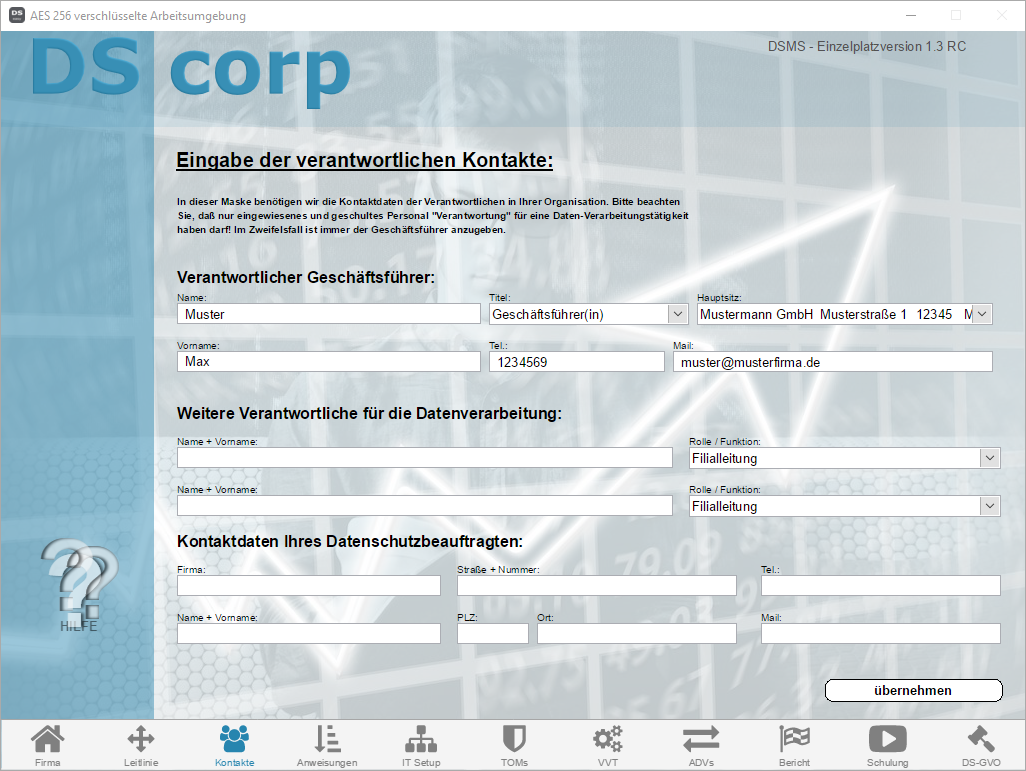 Screenshot V1.3 - DS corp - 03 Kontakte.