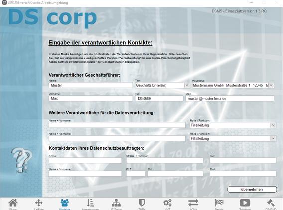 Screenshot V1.3 - DS corp - 03 Kontakte.