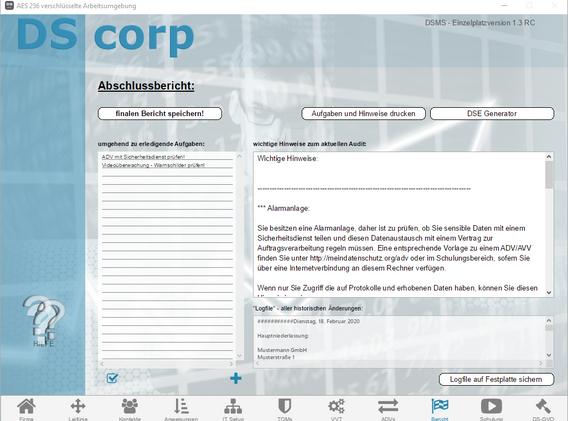 Screenshot V1.3 - DS corp - 09 Bericht.p