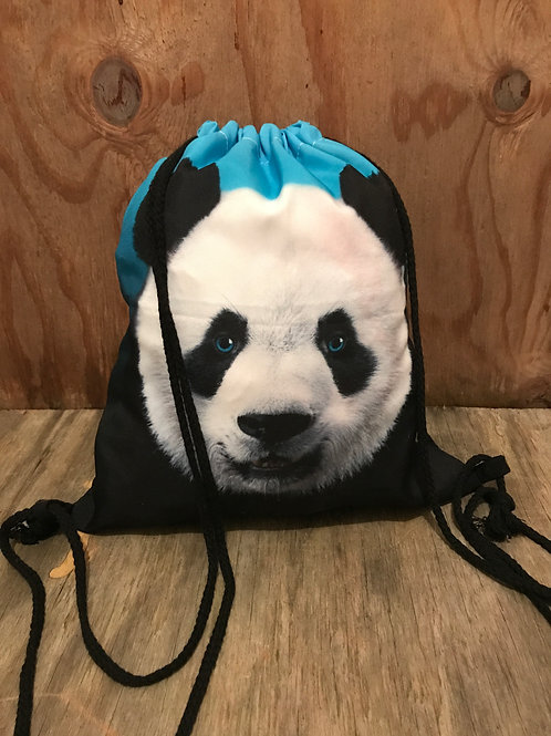 Colored panda face drawstring