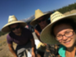 Family picture in Grand Tetons during total solar eclipse