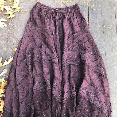 Rich chocolate gypsy skirt