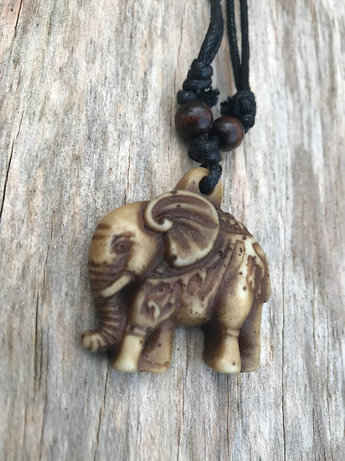 Far east elephant resin necklace