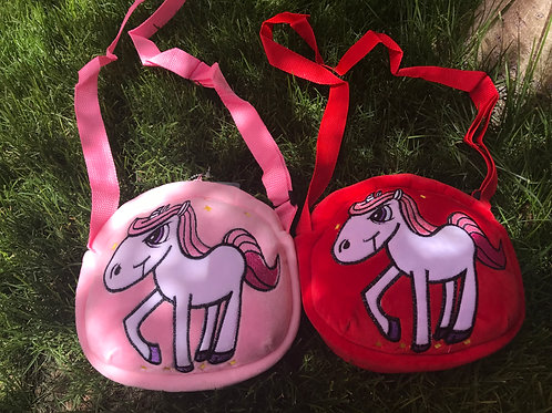 Cartoon style unicorn soft purse